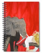Mika And Elephant Spiral Notebook