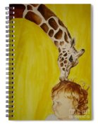 Mika And Giraffe Spiral Notebook
