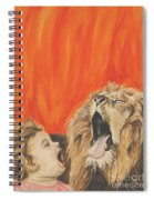 Mika And Lion Spiral Notebook
