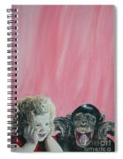 Mika And Monkey Spiral Notebook