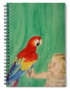 Mika And Parrot Spiral Notebook