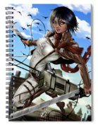 Mikasa Ackerman Spiral Notebook