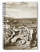 Mike Noon Monterey Whaler On Montereys Wharf  Circa 1890 Spiral Notebook