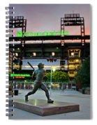 Mike Schmidt Statue At Dawn Spiral Notebook