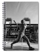 Mike Schmidt Statue In Black And White Spiral Notebook