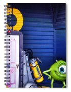 Mike With Boo's Door - Monsters Inc. In Disneyland Paris Spiral Notebook