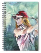 Miki Self Portrait Golfing Spiral Notebook