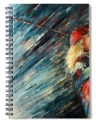 Miki Self Portrait With Driver Spiral Notebook