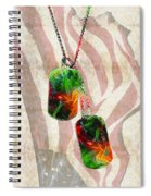 Military Art Dog Tags - Honor 2 - By Sharon Cummings Spiral Notebook