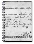 Military Due Bill, 1784 Spiral Notebook