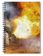 Military Flame Thrower Photo Art 01 Spiral Notebook