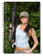 Military Girl Spiral Notebook