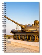 Military Tank Outdoor Installation View Spiral Notebook