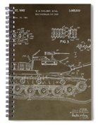 Military Tank Patent Spiral Notebook