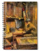 Military Ww I Command Post Photo Art 02 Spiral Notebook