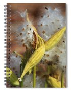 Milk Weed Spewing Its Seeds Spiral Notebook