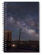 Milky Way Over Bodie Hotels Spiral Notebook