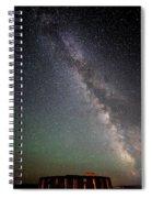 Milkyway Over Stonehenge Spiral Notebook