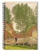 Mill On The Thames At Mapledurham, 1860 Spiral Notebook