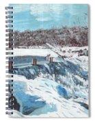 Mill Pond In Winter Spiral Notebook