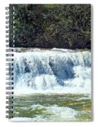 Mill Shoals Waterfall During Flood Stage Spiral Notebook