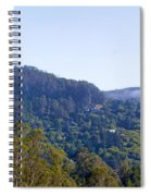 Mill Valley Ca Hills With Fog Coming In Left Panel Spiral Notebook