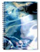 Milla Jovovich Portrait - Water Reflections Series Spiral Notebook