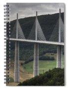 Millau Viaduct In France Spiral Notebook