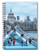 Millenium Bridge And St Pauls Cathedral Spiral Notebook