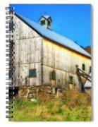 Milton Barn In Orton Spiral Notebook