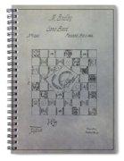 Milton Bradley Life Game Patent Spiral Notebook