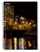 Milwaukee River And Downtown Skyline Spiral Notebook