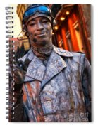Mime In Silver On Bourbon St. Spiral Notebook