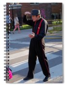 Mime Performer On The Street Spiral Notebook