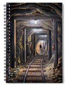 Mine Shaft Mural Spiral Notebook