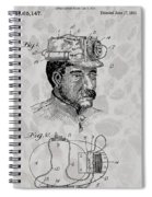Miner's Lamp Patent Spiral Notebook