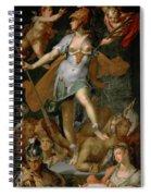 Minerva Victorious Over Ignorance Spiral Notebook