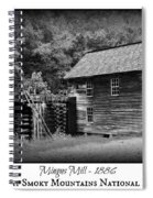 Mingus Mill -- Black And White Poster Spiral Notebook