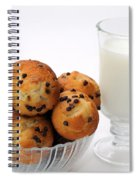 Mini Chocolate Chip Muffins And Milk - Bakery - Snack - Dairy - 1 Spiral Notebook