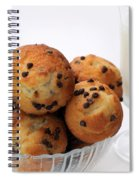 Mini Chocolate Chip Muffins And Milk - Bakery - Snack - Dairy - 2 Spiral Notebook