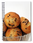 Mini Chocolate Chip Muffins And Milk - Bakery - Snack - Dairy - 3 Spiral Notebook