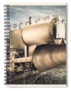 Mini Excavator Mailbox Spiral Notebook