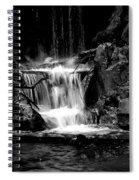 Mini Falls Black And White Spiral Notebook