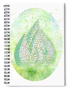 Mini Forest With Birds In Flight - Illustration Spiral Notebook