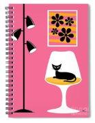 Mini Groovy Flowers I Spiral Notebook