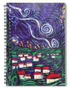 Mini Starry Night Spiral Notebook