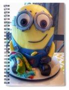 Minion Dessert Cake Spiral Notebook