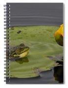 Mink Frog On Lilypad  Spiral Notebook
