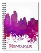 Minneapolis City Skyline Purple Spiral Notebook