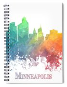 Minneapolis Skyline Colored Spiral Notebook